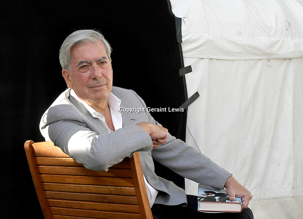 Mario Vargas Llosa ,South American writer at the Edinburgh Book Festival 2003  CREDIT Geraint Lewis