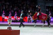 Charlotte Dujardin - Valegro, winner Reem Acra FEI World Cup Final <br /> FEI World Cup Final 2014<br /> © DigiShots