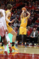 27 January 2018:  John Kiser for three during a College mens basketball game between the Valparaiso Crusaders and Illinois State Redbirds in Redbird Arena, Normal IL
