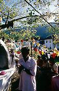 Worshipers at the Bo Tree in the area of the Dalada Maligawa in Kandy.