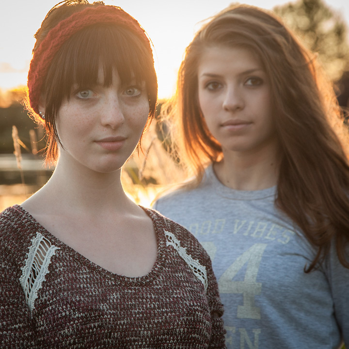 UAA students Sam Luban (hat) and Sophie Leshan at Westchester Lagoon  srluban@gmail.com  saleshan@alaska.edu