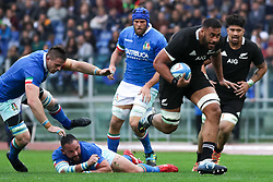 November 24, 2018 - Rome, Rome, Italy - Simone Ferrari, Dean Budd and Patrick Tuipulotu during the Test Match 2018 between Italy and New Zealand at Stadio Olimpico on November 24, 2018 in Rome, Italy. (Credit Image: © Emmanuele Ciancaglini/NurPhoto via ZUMA Press)