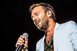 June 20, 2018 - Milan, Italy, Italy - Italian singer Cesare Cremonini performs on stage at Stadio San Siro on June 20, 2018 in Milan, Italy. (Credit Image: © Mairo Cinquetti/NurPhoto via ZUMA Press)