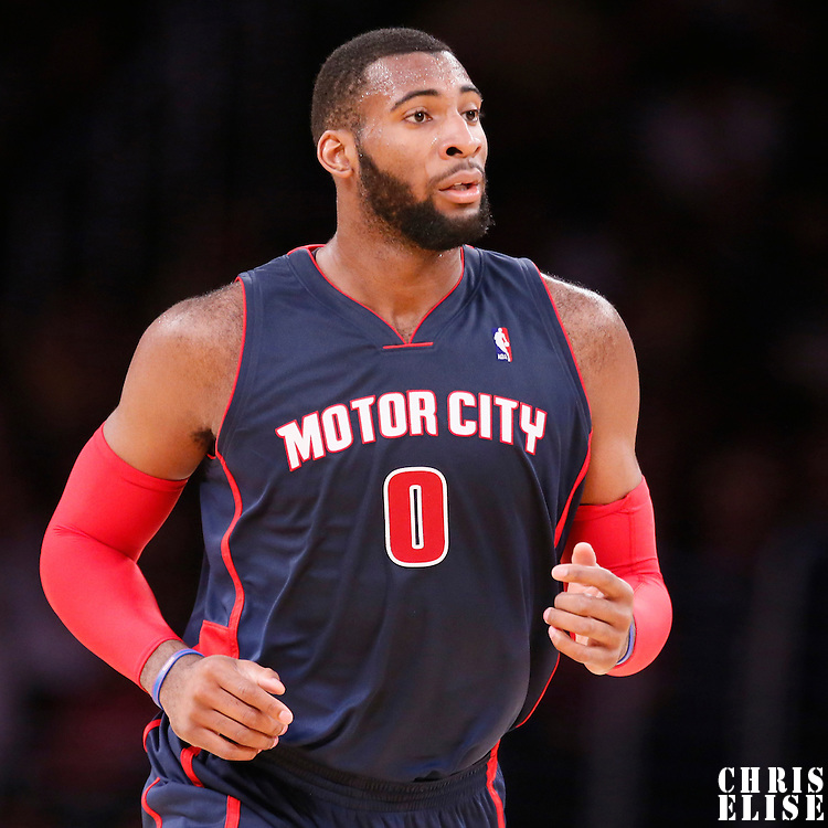 17 November 2013: Detroit Pistons center Andre Drummond (0) is seen during the Los Angeles Lakers 114-99 victory over the Detroit Pistons at the Staples Center, Los Angeles, California, USA.
