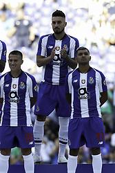 July 28, 2018 - Porto, Porto, Portugal - Porto's Brazilian defender Alex Telles (C) during the Official Presentation of the FC Porto Team 2018/19 match between FC Porto and Newcastle, at Dragao Stadium in Porto on July 28, 2018. (Credit Image: © Dpi/NurPhoto via ZUMA Press)