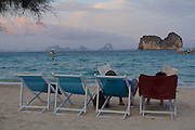 Thailand, Ko Hai. Kohhai Fantasy Resort & Spa. Sunset at the beach.