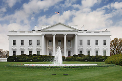 The north side of the White House looking at the Rose Garden
