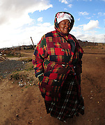 An old lady in Rocklands a Township outside of Bloemfontein South Africa on 23 June 2009, during the 2009 Confederations cup in South Africa. Photo:Gerhard Steenkamp/Superimage Media