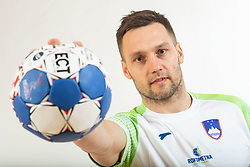Luka Zvizej, handball player of Slovenia posing for commercial of Rokometna simfonija 2019, on April 14, 2019, in Zrece, Slovenia. Photo by Vid Ponikvar / Sportida