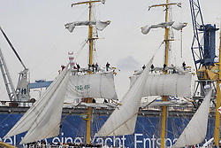09.05.2013, Hafen, Hamburg, GER, 824. Hafengeburtstag Hamburg, Einlaufparade, im Bild Besatzung auf den Masten der Alexander von Humboldt II,  // during the opening parade of the 824th Hamburg Harbour Birthday, Germany on 2013/05/09. EXPA Pictures © 2013, PhotoCredit: EXPA/ Eibner/ Andre Latendorf..***** ATTENTION - OUT OF GER *****