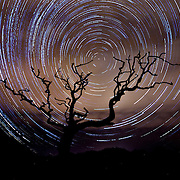 Star Trails over a Cornish Moor. 31st December 2015