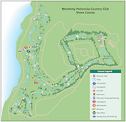 Monterey Peninsula Golf course, shore course. AT&T Pro Am 2010 map