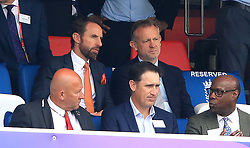 England manager Gareth Southgate in the stands during the ICC Cricket World Cup group stage match at Lord's, London.