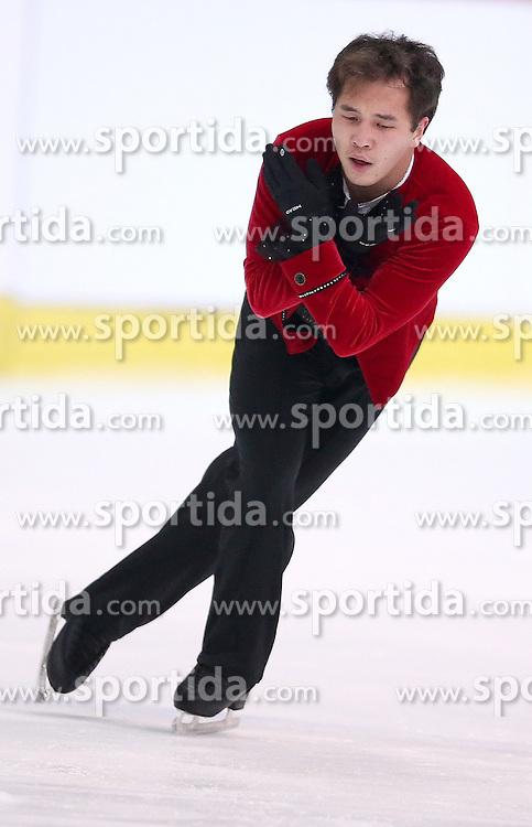 04.12.2015, Dom Sportova, Zagreb, CRO, ISU, Golden Spin of Zagreb, freies Programm, Herren, im Bild Abzal Rakimgaliev, Kazahstan. // during the 48th Golden Spin of Zagreb 2015 men Free Program of ISU at the Dom Sportova in Zagreb, Croatia on 2015/12/04. EXPA Pictures &copy; 2015, PhotoCredit: EXPA/ Pixsell/ Igor Kralj<br /> <br /> *****ATTENTION - for AUT, SLO, SUI, SWE, ITA, FRA only*****