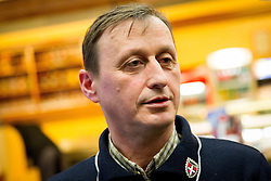 Dare Prevc, father of athlete Peter Prevc at reception of Slovenia team arrived from Winter Olympic Games Sochi 2014 on February 19, 2014 at Airport Joze Pucnik, Brnik, Slovenia. Photo by Vid Ponikvar / Sportida