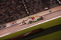 Tony Kanaan, Helio Castroneves and Scott Sharp at the Texas Motor Speedway, Bombardier Learjet 500, June 11, 2005