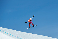 PYEONGCHANG, SOUTH KOREA - FEBRUARY 16:  Chloe Trespeuch #6 of France during the Ladies' Snowboard Cross on day seven of the PyeongChang 2018 Winter Olympic Games at Phoenix Snow Park on February 16, 2018 in Pyeongchang-gun, South Korea. Photo by Ronald Hoogendoorn / Sportida