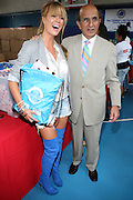 l to r: Leah Renee and Joel Klein at The 2nd Annual Staples/Do Something 101 Volunteer Event held at The Children's AID Society Dunlevy Milbank Boys & Girls Club in Harlem on August 4, 2009 in New York City