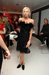 The HON.SOPHIA HESKETH at a party hosted by PPQ of Mayfair at the Fiat Flagship Store, 105 Wigmore Street, London W1 on 11th February 2008.<br />