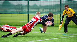 Sam Perry of Bristol Rugby Academy U18 scores a try - Mandatory by-line: Paul Knight/JMP - 11/02/2017 - RUGBY - SGS Wise Campus - Bristol, England - Bristol Academy v Gloucester Academy - Premiership Rugby Academy U18 League