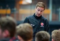 ROTTERDAM  - NK Zaalhockey,   halve finale heren Oranje Rood-SCHC (SCHC wint en plaatst zich voor de finale) . coach Rob Reckers.  COPYRIGHT KOEN SUYK