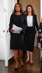 "© Licensed to London News Pictures. 26/04/2017. London, UK. Gina Miller (L) and Eloise Todd (R) attend the Launch of the Best for Britain initiative. Mrs Miller's campaign aims to endorse various candidates in the general election who support it's proposal for a ""meaningful"" vote by MPs at the end of the UK's EU Brexit negotiations. Photo credit: Peter Macdiarmid/LNP"