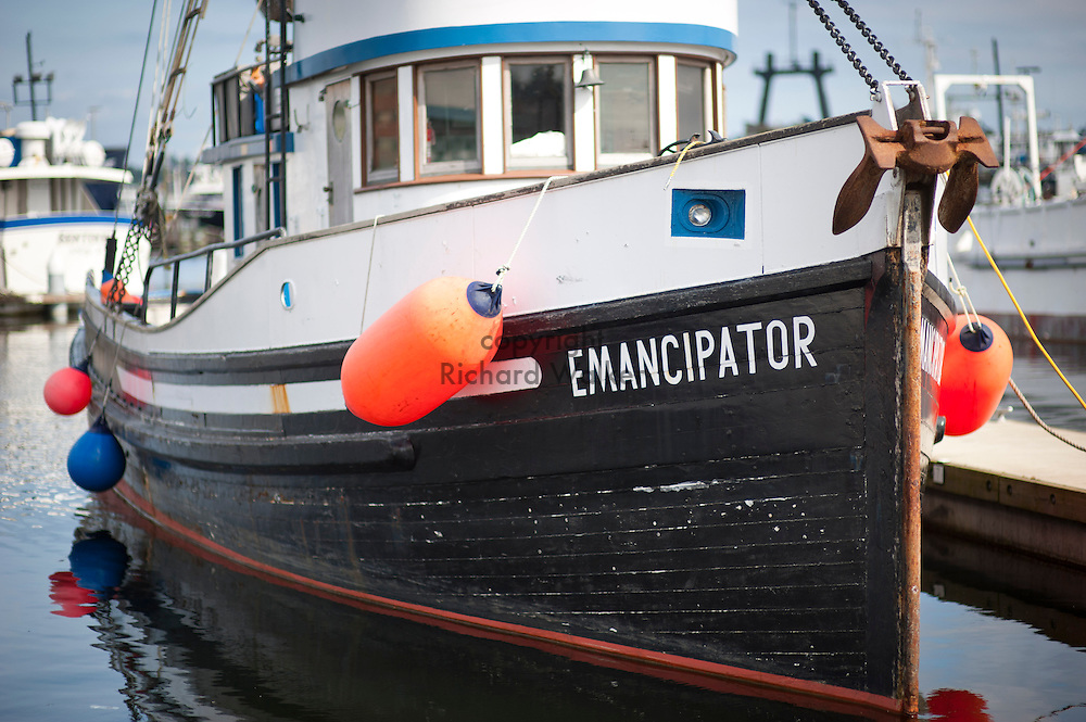 2011 June 17 - The boat Emancipator docked at the Seattle Fishermen's Terminal, Ballard, Seattle, Washington. CREDIT: Richard Walker
