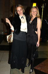 Left to right, BAY GARNETT and ALANNAH WESTON at the 2004 British Fashion Awards held at Thhe V&A museum, London on 2nd November 2004.<br />
