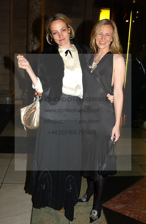 Left to right, BAY GARNETT and ALANNAH WESTON at the 2004 British Fashion Awards held at Thhe V&amp;A museum, London on 2nd November 2004.<br />
