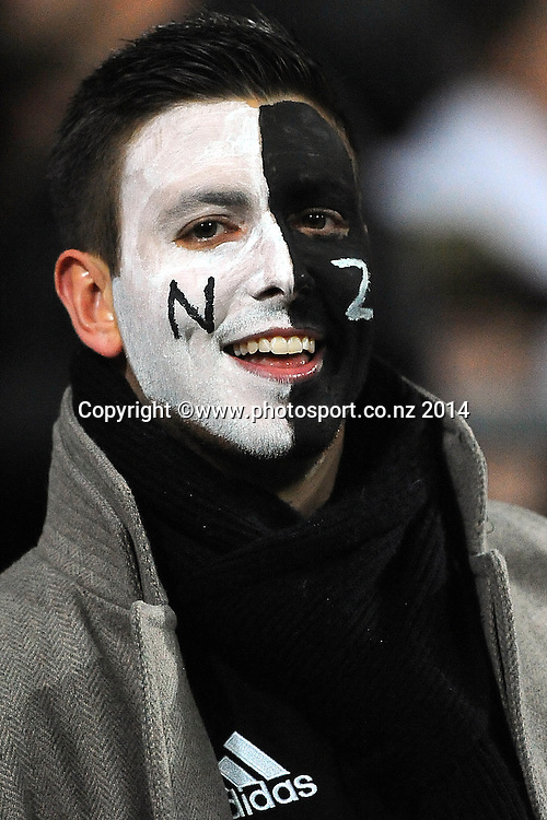 Fan during the Rugby Championship Rugby Union Test Match New Zealand All Blacks v South Africa. Westpac Stadium, Wellington, New Zealand. Saturday 13 September 2014. Photo: Chris Symes/www.photosport.co.nz