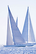 Gaia sailing during the St. Barth's Bucket 2011 race 1.