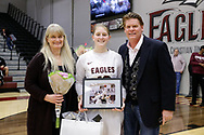 March 2, 2019: The Oklahoma Christian University Eagles basketball teams celebrate senior day during the last home games of the season in the Eagles Nest on the campus of Oklahoma Christian University.