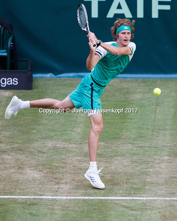 ALEXANDER ZVEREV (GER)<br /> <br /> Tennis - Gerry Weber Open 2017 - ATP 500 -  Gerry Weber Stadion - Halle / Westf. - Nordrhein Westfalen - Germany  - 21 June 2017. <br /> &copy; Juergen Hasenkopf