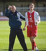 Barry Smith and Stephen O'Donnell celebrate - Ross County v Dundee - IRN BRU Scottish Football League First Division at Victoria Park<br /> <br /> <br /> <br /> http://www.davidyoungphoto.co.uk