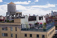 Roofgarden and water tower, seen from the Whitney Museum of American Art.