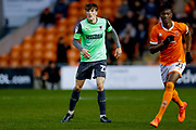 AFC Wimbledon defender Ryan Delaney (21), on loan from Rochdale,  during the EFL Sky Bet League 1 match between Blackpool and AFC Wimbledon at Bloomfield Road, Blackpool, England on 16 November 2019.