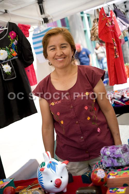 A Vendor at the Downtown Anaheim Farmer's Market