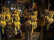 10 NOVEMBER 2014 - SITTWE, MYANMAR: A banana market in Sittwe, Myanmar. Sittwe is a small town in the Myanmar state of Rakhine, on the Bay of Bengal.    PHOTO BY JACK KURTZ