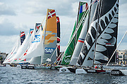 Race start, day one of the Cardiff Extreme Sailing Series Regatta. 22/8/2014