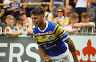 Tom Briscoe  of Leeds Rhinos celebrates scoring his 2nd try of the game against Castleford Tigers during the Betfred Super League match at the Mend-A-Hose Jungle, Castleford<br /> Picture by Stephen Gaunt/Focus Images Ltd +447904 833202<br /> 08/07/2018
