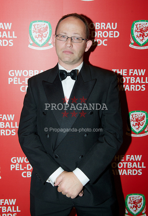 CARDIFF, WALES - Monday, October 8, 2012: Sky Sports' Alex Gage during the FAW Player of the Year Awards Dinner at the National Museum Cardiff. (Pic by David Rawcliffe/Propaganda)