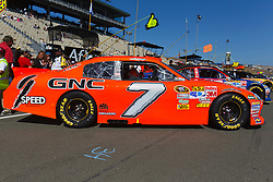 June 26, 2011; Sonoma, CA, USA;  The car of NASCAR Sprint Cup Series driver Robby Gordon (not pictured) on pit road before the Toyota/Save Mart 350 at Infineon Raceway.