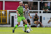 Forest Green Rovers Carl Winchester(7) on the ball during the Pre-Season Friendly match between Bath City and Forest Green Rovers at Twerton Park, Bath, United Kingdom on 27 July 2019.
