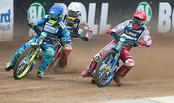 May 12, 2018 - Warsaw, Poland - Artem Laguta (RUS), Przemyslaw Pawlicki (POL), Bartosz Zmarzlik (POL) during 1st round of Speedway World Championships Grand Prix Poland in Warsaw, Poland, on 12 May 2018. (Credit Image: © Foto Olimpik/NurPhoto via ZUMA Press)