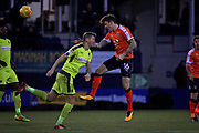 Luton Town defender Glen Rea (16) clears during the EFL Sky Bet League 2 match between Luton Town and Notts County at Kenilworth Road, Luton, England on 9 December 2017. Photo by Nigel Cole.
