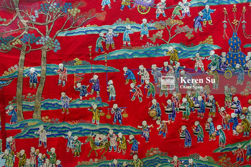 Closeup of emperor's robe, Urumqi Museum, Xinjiang Province, Silk Road, China