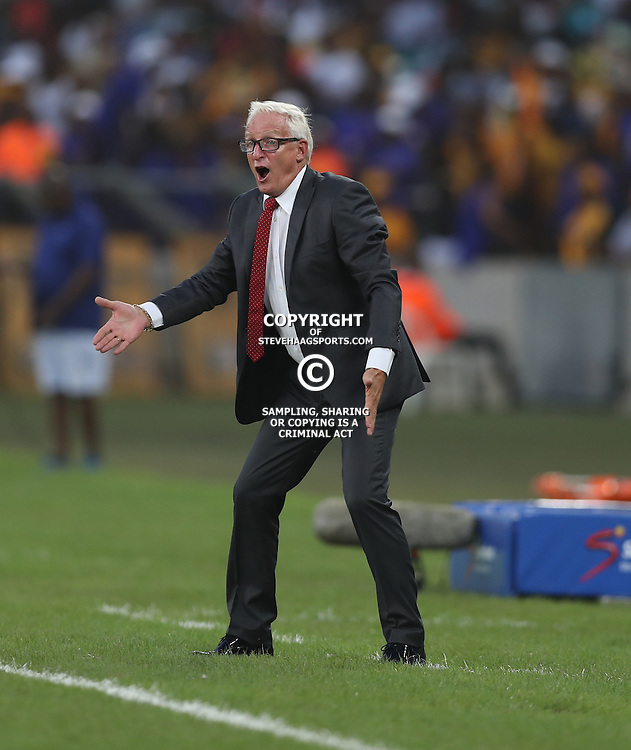 DURBAN, SOUTH AFRICA - FEBRUARY 18: Gordon Igesund (Head Coach) of Highlands Park during the Absa Premiership match between Kaizer Chiefs and Highlands Park at Moses Mabhida Stadium on February 18, 2017 in Durban, South Africa. (Photo by Steve Haag/Gallo Images)