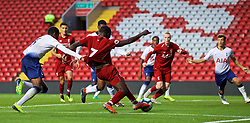 LIVERPOOL, ENGLAND - Friday, August 17, 2018: Liverpool's Bobby Adekanye during the Under-23 FA Premier League 2 Division 1 match between Liverpool FC and Tottenham Hotspur FC at Anfield. (Pic by David Rawcliffe/Propaganda)