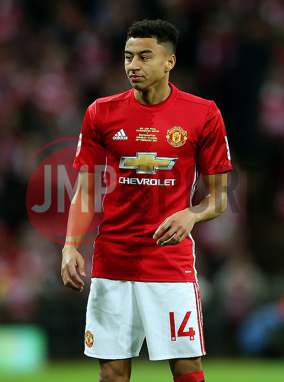 Jesse Lingard of Manchester United  - Mandatory by-line: Matt McNulty/JMP - 26/02/2017 - FOOTBALL - Wembley Stadium - London, England - Manchester United v Southampton - EFL Cup Final
