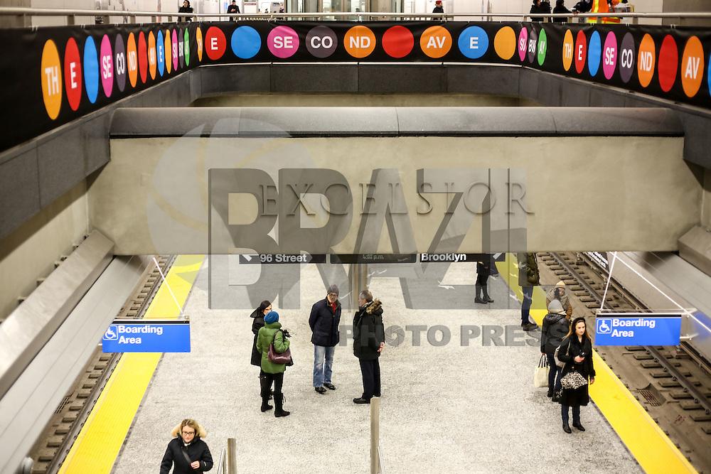 NEW YORK, NY, 07.01.2017 - INAUGURAÇÃO-METRO - Movimentação na nova estação de Metro da cidade de New York da rua 72 é visto neste sábado, 07. (Foto: Vanessa Carvalho/Brazil Photo Press)